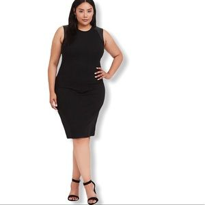 Torrid Sleeveless Dress Crepe and faux leather